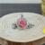 Blütenschmuck-Halskette, rot