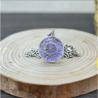Blütenschmuck-Halskette, violett