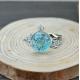 Blütenschmuck-Halskette, blau