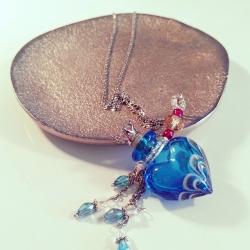 Joueur, blau, Aroma-Schmuck Halskette