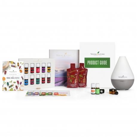 Premium Starter Set Young Living mit Dewdrop Diffuser & 11 ätherischen Ölen