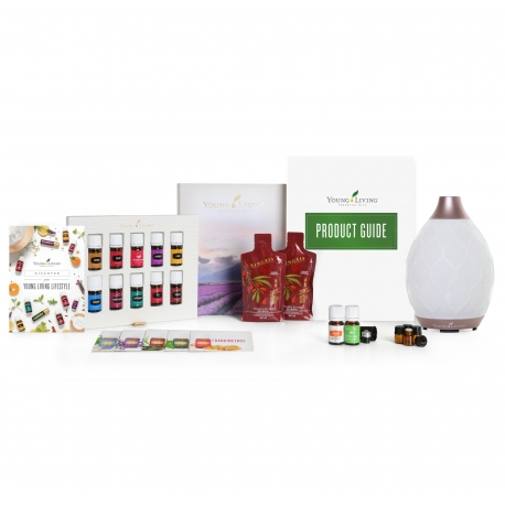 Premium Starter Set mit Dewdrop Diffuser & 12 ätherischen Ölen Young Living