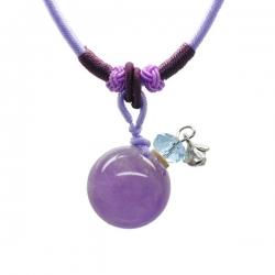 Gemstone, lila, Aroma-Schmuck Halskette