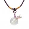 Gemstone, clear, Aroma-Schmuck Halskette