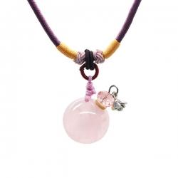 Gemstone, rosa, Aroma-Schmuck Halskette