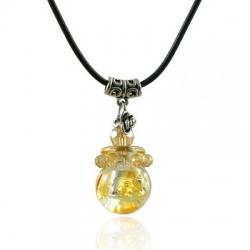 Spherical, gelb, Aroma-Schmuck Halskette
