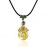 Sperical, gelb, Aroma-Schmuck Halskette
