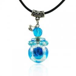 Spherical, blau, Aroma-Schmuck Halskette