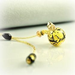 Dreaming Beads, gelb-schwarz, Aroma-Schmuck Halskette