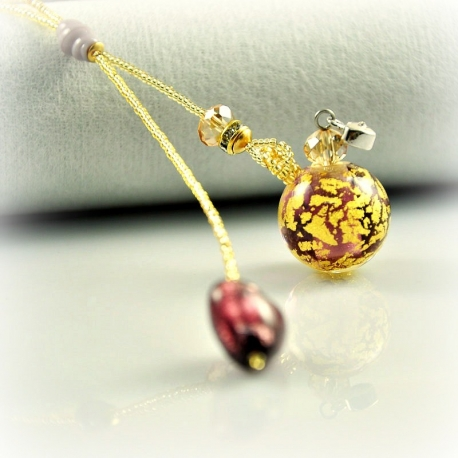 Dreaming Beads, violett, Aroma-Schmuck Halskette