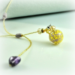 Dreaming Beads, clear, Aroma-Schmuck Halskette