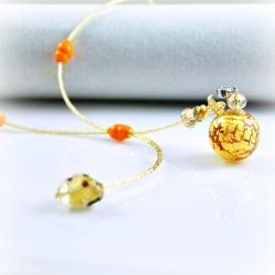 Dreaming Beads, gelb, Aroma-Schmuck Halskette