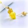 Circling Gem, gelb, Aroma-Schmuck Halskette