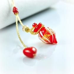 Circling Gem, rot, Aroma-Schmuck Halskette