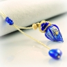 Circling Gem, blau, Aroma-Schmuck Halskette