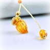 Circling Gem, orange, Aroma-Schmuck Halskette