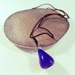 Mysterious, blau, Aroma-Schmuck Halskette