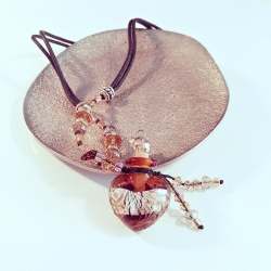 Chrystal, orange, Aroma-Schmuck Halskette