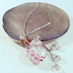 Joueur, rosa, Aroma-Schmuck Halskette