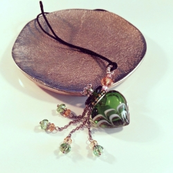 Joueur, grün, Aroma-Schmuck Seidenkordel Halskette