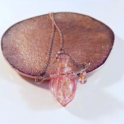 Twisting, pink, Aroma-Schmuck Halskette
