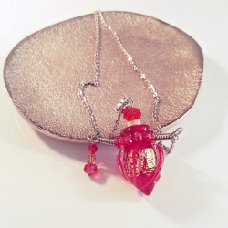 Twisting, rot, Aroma-Schmuck Halskette