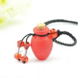 Phiole, rot, Aroma-Schmuck Halskette