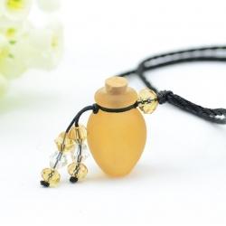 Phiole, gelb, Aroma-Schmuck Halskette